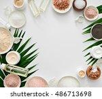 image of homemade cosmetics...   Shutterstock . vector #486713698