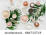 image of homemade cosmetics... | Shutterstock . vector #486713719
