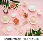 image of homemade cosmetics...   Shutterstock . vector #486715018