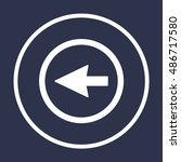 arrow   icon vector. flat... | Shutterstock .eps vector #486717580