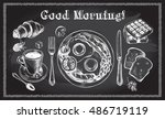 traditional breakfast set.... | Shutterstock .eps vector #486719119