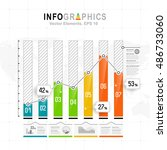 white infographics set with... | Shutterstock .eps vector #486733060