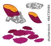 illustration of baked sweet... | Shutterstock .eps vector #486735484
