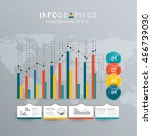 white infographics set with... | Shutterstock .eps vector #486739030