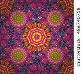 vector boho chic flower... | Shutterstock .eps vector #486740758