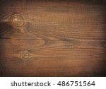 dark brown scratched wooden... | Shutterstock . vector #486751564