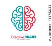 line brain idea creative logo... | Shutterstock .eps vector #486752158