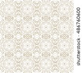 seamless floral and geometric... | Shutterstock .eps vector #486760600