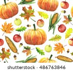 Thanksgiving Seamless Pattern...