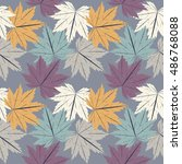 stylish seamless pattern with... | Shutterstock .eps vector #486768088