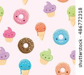 Seamless Pattern With Sweets  ...