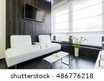 spacious waiting room in a... | Shutterstock . vector #486776218