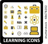 20 learning icons. vector | Shutterstock .eps vector #48678202