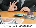 banks approve loans to buy... | Shutterstock . vector #486784063