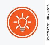 light lamp sign icon. idea... | Shutterstock .eps vector #486788596