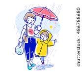 cartoon vector illustration of... | Shutterstock .eps vector #486788680