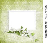 delicate frame with green... | Shutterstock . vector #48679435
