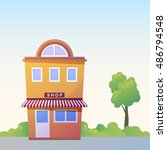 store facade. vector...   Shutterstock .eps vector #486794548