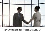 business partners handshake .... | Shutterstock . vector #486796870