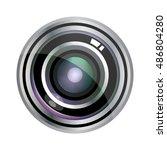 modern vector realistic lens... | Shutterstock .eps vector #486804280