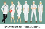 vector illustration of medical... | Shutterstock .eps vector #486805843