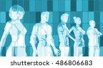 blue business abstract... | Shutterstock . vector #486806683