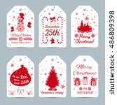 set of new year labels.... | Shutterstock .eps vector #486809398