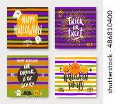 vector set of halloween... | Shutterstock .eps vector #486810400
