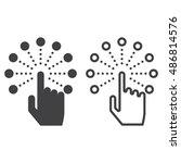 interactive touch screen... | Shutterstock .eps vector #486814576