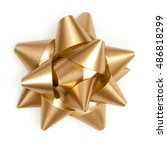 gold bow sparkling holiday gift ... | Shutterstock . vector #486818299