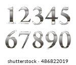 mathematics numeral silver ... | Shutterstock .eps vector #486822019