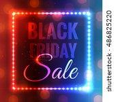 black friday background.... | Shutterstock .eps vector #486825220