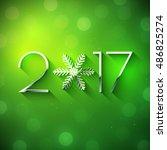 new year 2017 text design.... | Shutterstock .eps vector #486825274