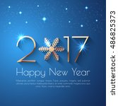 happy new year 2017 text design....
