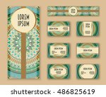 business cards  invitations and ... | Shutterstock .eps vector #486825619