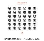 japanese family crests set vol.4 | Shutterstock .eps vector #486830128