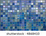 blue tesselated mosaic texture... | Shutterstock . vector #4868410