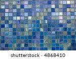 blue tesselated mosaic texture... | Shutterstock . vector #4868410
