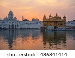 Golden Temple At Sunset ...