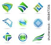 various colorful abstract icons ... | Shutterstock . vector #486847336