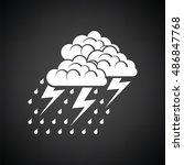 thunderstorm icon. black... | Shutterstock .eps vector #486847768