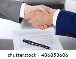 businessman and business woman... | Shutterstock . vector #486853606