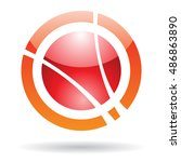 abstract orbit icon and design...   Shutterstock . vector #486863890