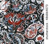bright seamless pattern in... | Shutterstock . vector #486864073