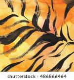 Watercolor Tiger Skin Texture