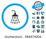 shower pictograph with bonus... | Shutterstock .eps vector #486874006