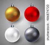 vector winter illustration of... | Shutterstock .eps vector #486874720