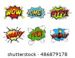 comics bubbles for emotions and ... | Shutterstock .eps vector #486879178