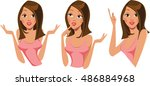 girls face in different...