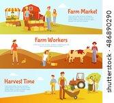 Flat Design Harvest Time...